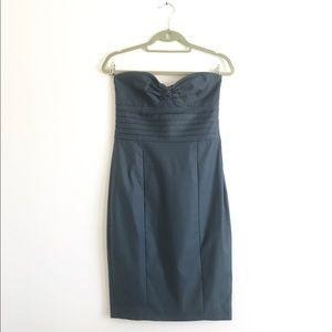Arden B Grey Strapless Bustier Dress Sz S